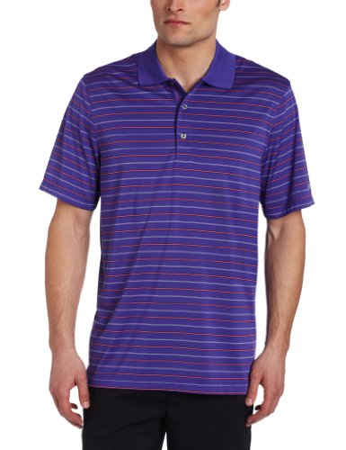 IZOD Men's Short Sleeve Jersey Stripe Golf Polo, Liberty Purple, XX-Large