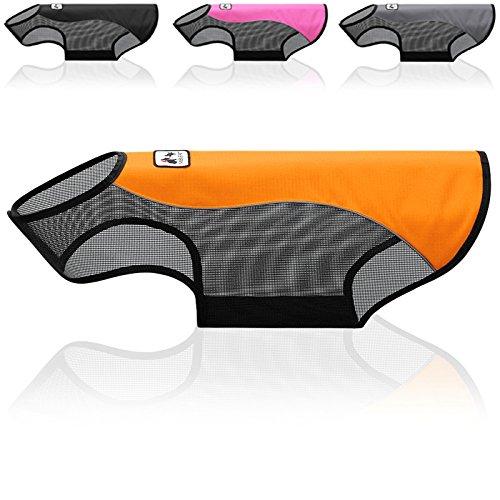HLM Dog Vest for Small to Large Dog, Water resistant Reflective strip and Mesh Design Dog Jacket coat for Summer - XXL, Orange