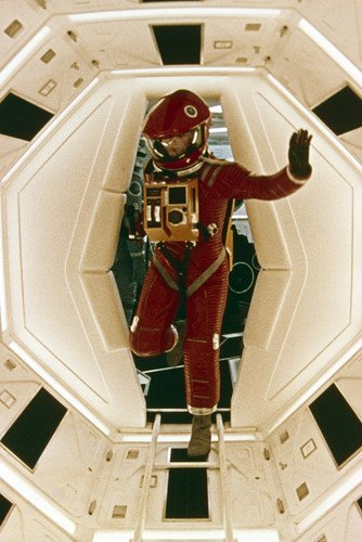 Keir Dullea in 2001: A Space Odyssey in red space suit in hatch 24x36 Poster (2001 Space Odyssey Collectible compare prices)