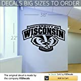 NCAA Wall Mural Vinyl Sticker Sports Logos Wisconsin Badgers (S1069)