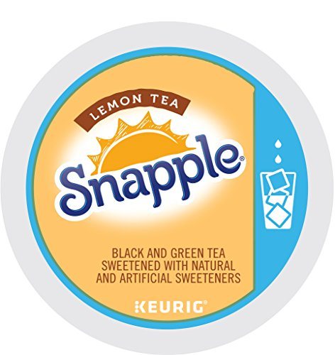 Keurig, Snapple, Lemon Iced Tea, K-Cup packs, 12 Count, (Pack of 6)