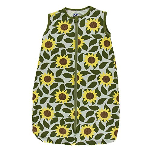 (Kickee Pants Little Girls Print Lightweight Sleeping Bag - Aloe Sunflower, 18-36)