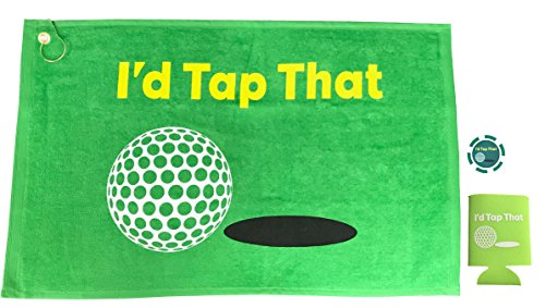 - Giggle Golf I'd Tap That Golf Towel & Poker Chip With An I'd Tap That Koozie