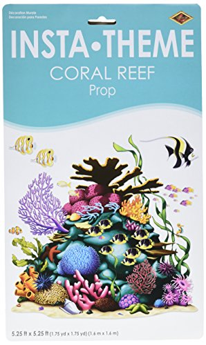 Coral Reef Prop (3 fish included) Party Accessory  (1 count) (1/Pkg) (Coral Reef Decorations)