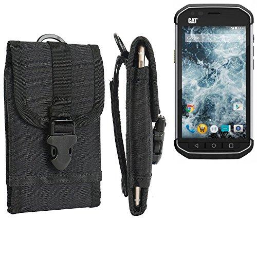 bolsa del cinturón / funda para Caterpillar Cat S40, negro | caja del teléfono cubierta protectora bolso - K-S-Trade (TM)