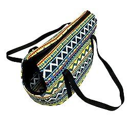 Juway Pets Retro Girls Shoulder Bag For Dogs&Cats(Blue,L)