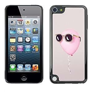 PC/Aluminum Funda Carcasa protectora para Apple iPod Touch 5 balloon freedom summer sun cool grey / JUSTGO PHONE PROTECTOR