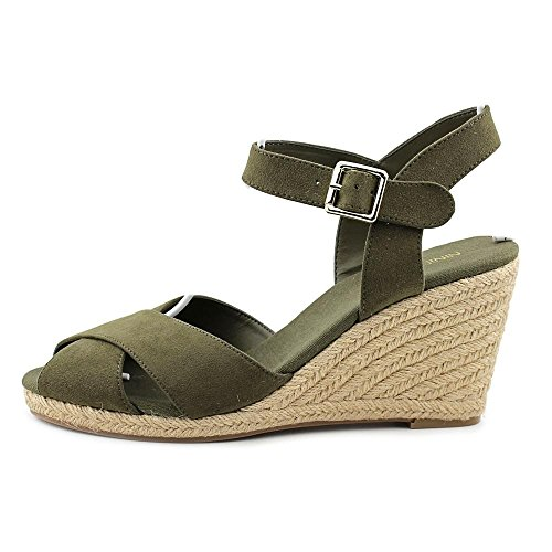 hot sale 2017 Nine West Move Over Women Open Toe Canvas Green Wedge Sandal