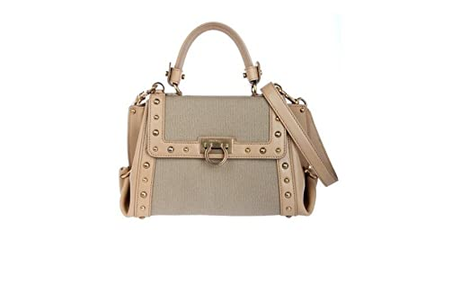 ... Salvatore Ferragamo Canvas Gancini Hand Bag hot sale online 61b0e 42273 7a8985a1a5a23