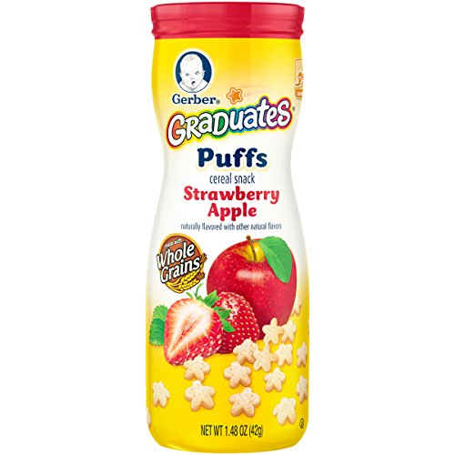 Gerber Graduates Puffs Strawberry Apple, 1.48 oz