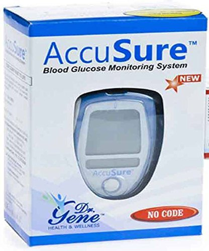 AccuSure Blood Glucose Monitoring System Test Strips, 25 Count (Multi Color)