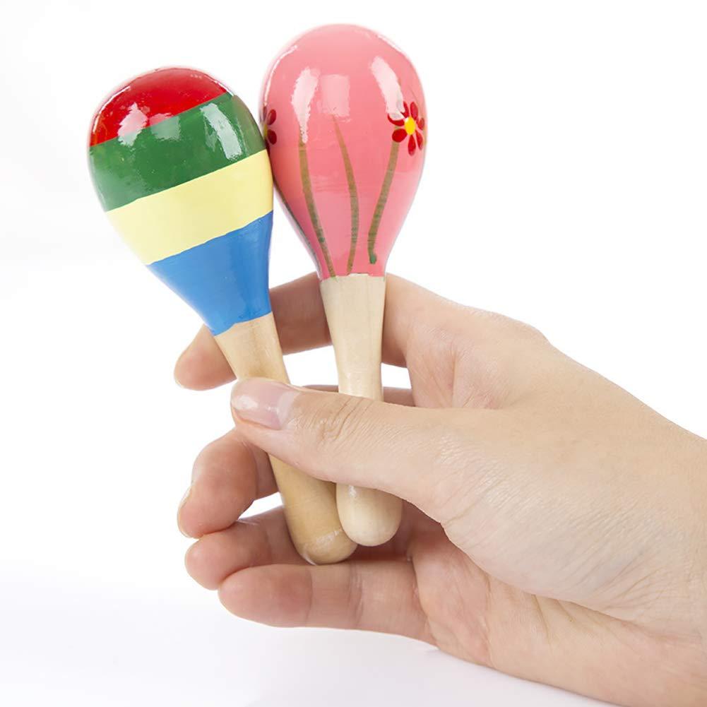 Madera Instrumentos de Percusi/ón ni/ños de juguete de la rana Timbre M/úsica de juguete de madera Tap Instrumentos para Ni/ños