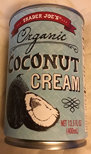 Trader Joe's Organic Coconut Cream 13.5 fl. oz (Pack of 2 Cans)