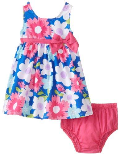 Watch Me Grow! by Sesame Street Baby-Girls Newborn 2 Pieced Floral Dress Set