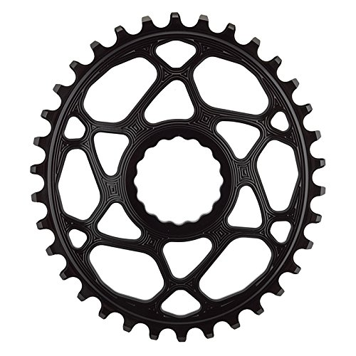 ABSOLUTE BLACK Race Face Oval Cinch Direct Mount Traction Chainring Black, 34t Oval Race