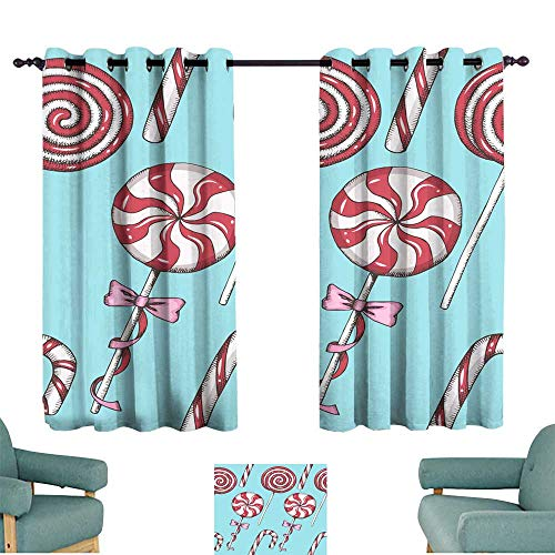 Privacy curtain Seamless pattern with hand drawn lollipops Sweet Christmas background Food design Merry Christmas and Happy New Year Vintage pattern can be used for wallpaper web page background surf