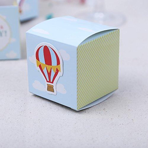 Wedding Favor Box Hot Air Balloon Logo Baby Full Moon Candy Boxes (Hot Air Balloon Baby Shower Favors)