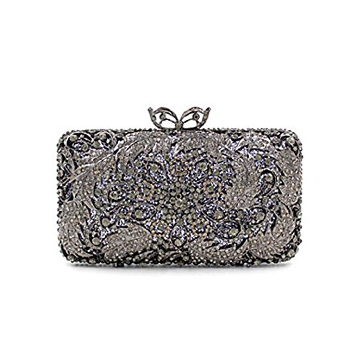 Women More Special Colors Minaudiere Clutch Darkgray Bag Kys Casual All Material party Event Evening Seasons Polyester Wedding Crystal Handbag HAqdfd