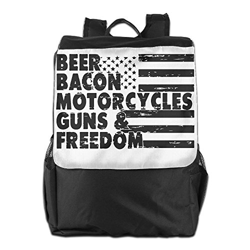 Beer Bacon Guns And Freedom Unisex Casual Hiking Backpack by HIFUN