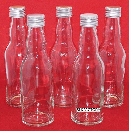 24 leere Glasflaschen mit Schraubverschluss 200 ml KROPF Saftflaschen mit Verschluss Likörflaschen Schnapsflaschen Essigflaschen Ölflaschen 0,2 liter l Essig/Öl Flaschen Saftflaschen Nr. 250 - 1 von slkfactor