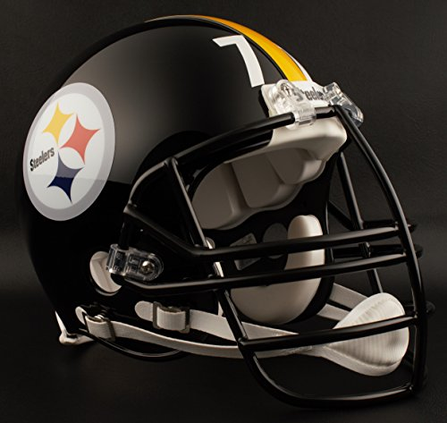 Helmet Steelers Throwback Pittsburgh (Riddell PITTSBURGH STEELERS 1977-1999 NFL AUTHENTIC Throwback Football Helmet w/NJOP Facemask)