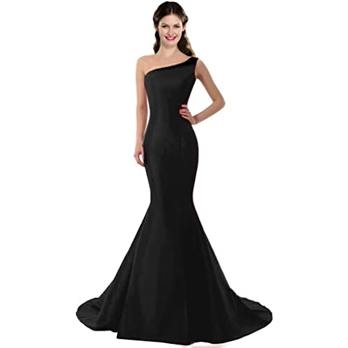COLOREDRESS Color E Dress Design Brief Elegant Mermaid One-Shoulder Evening Dress