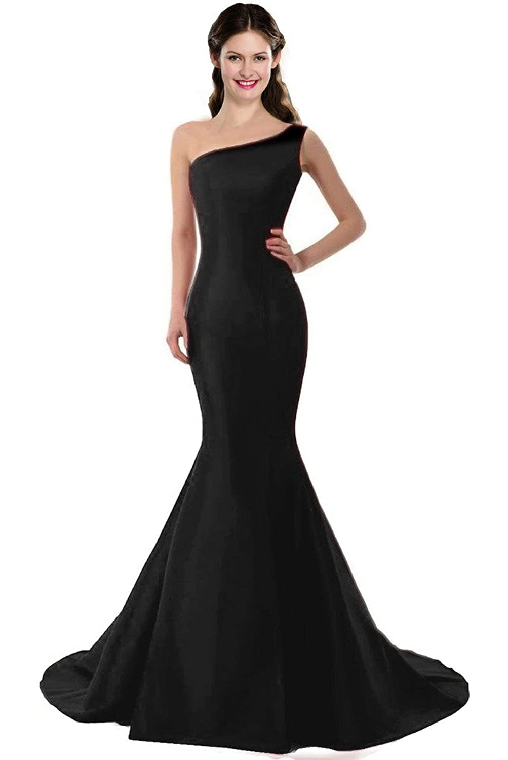 Color E Dress DESIGN Brief Elegant Mermaid One-Shoulder Evening ...