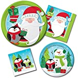 Frozen Friends Christmas Holiday Party Supply Bundle for 16 Guests - Includes Plates and Napkins