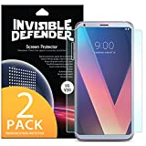 LG V30 Screen Protector, Invisible Defender [Full Coverage][2-Pack] Edge to Edge Curved Side Coverage Guaranteed [Case Compatible] Super Thin HD Clearness Film