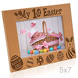 Amazon kate posh 2017 my first 1st easter picture frame kate posh 2017 my first 1st easter picture frame engraved natural wood photo frame easter decorations baby easter gifts first easter gifts easter negle Gallery