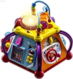 WolVol Musical Activity Cube Play Center with Lights, 15 Functions and Skills
