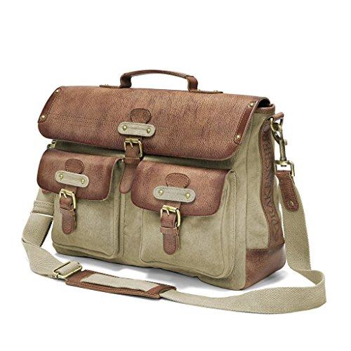 DRAKENSBERG Umhängetasche Kimberley-Messenger-Laptop-Bag, 15 L, beige, DR00101 Beige