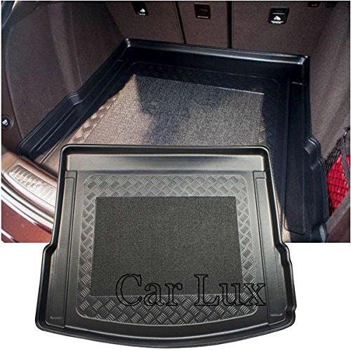 Car Lux AR02982 Alfombra Cubeta Protector cubre maletero a medida con antideslizante para Macan