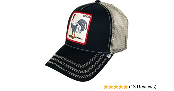 8233a1ca Goorin Bros Men's Rooster 'Cock' Patch Trucker Hat Cap (Black) at Amazon  Men's Clothing store: Goorin Bros Hats