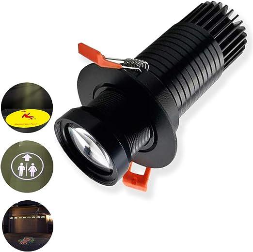 8W LED Imagen personalizada Logotipo de Gobo Proyector Luz ...