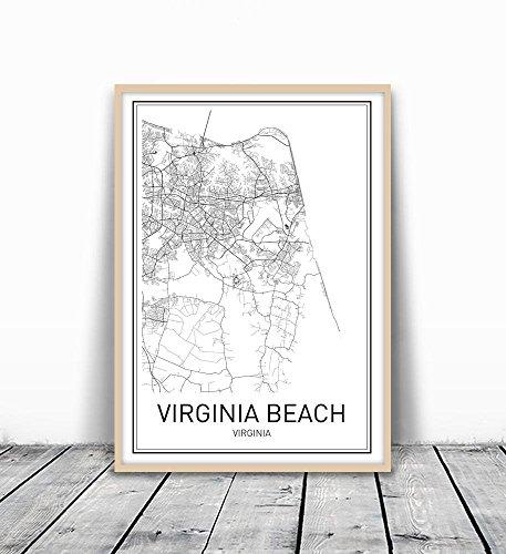 Virginia Beach Poster, Map of Virginia Beach, Virginia Beach Map, City Map Posters, Modern Map Art, City Prints, Virginia Art, Minimal Print, City Poster, City Map Wall Art, minimalist posters, 8x10