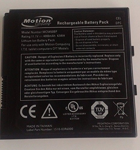 Motion Computing additional battery for F5 F5T F5V tablet. MC5450BP Part: 507.201.02 - Black Computing C5 Tablet Pc