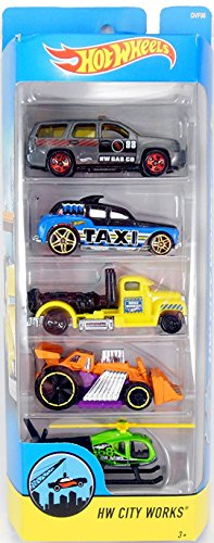 Hot Wheels 2017 HW City Works 5-Pack ()