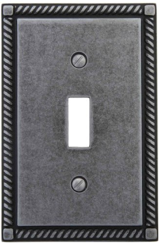AmerTac 53TAPL Georgian Single Toggle Wallplate, Antique Pewter by AmerTac