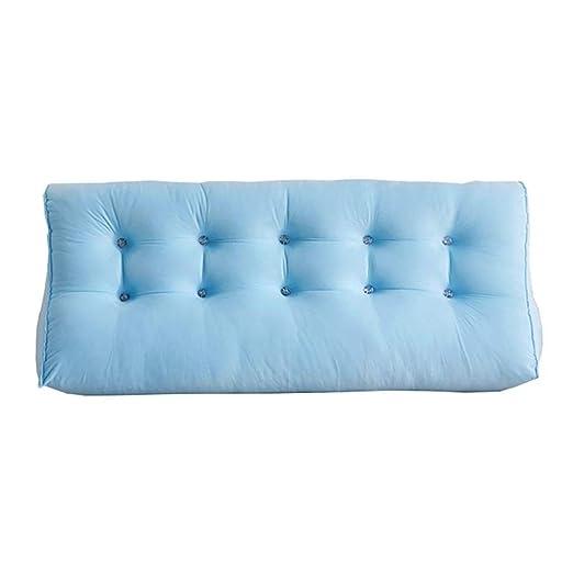 SH-BZ Lleno Triangular Bedside Back Cojín Sofa Soft Reading ...