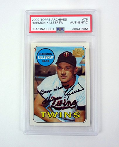Harmon Killebrew 2002 Topps Archives Signed Autograph Card Slabbed PSA/DNA COA ()