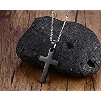 Dalino Novelties Things Vintage Simple Plain Cross Pendant Men