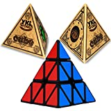 YKL World Pyraminx Puzzle Cube,black