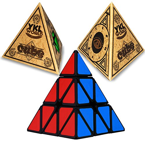 Cube Magic Triangle - Pyraminx Pyramid Speed Magic Cube Puzzles, YKL World Speed Twist Cube Smart Toy Game for Kids Birthday Gift