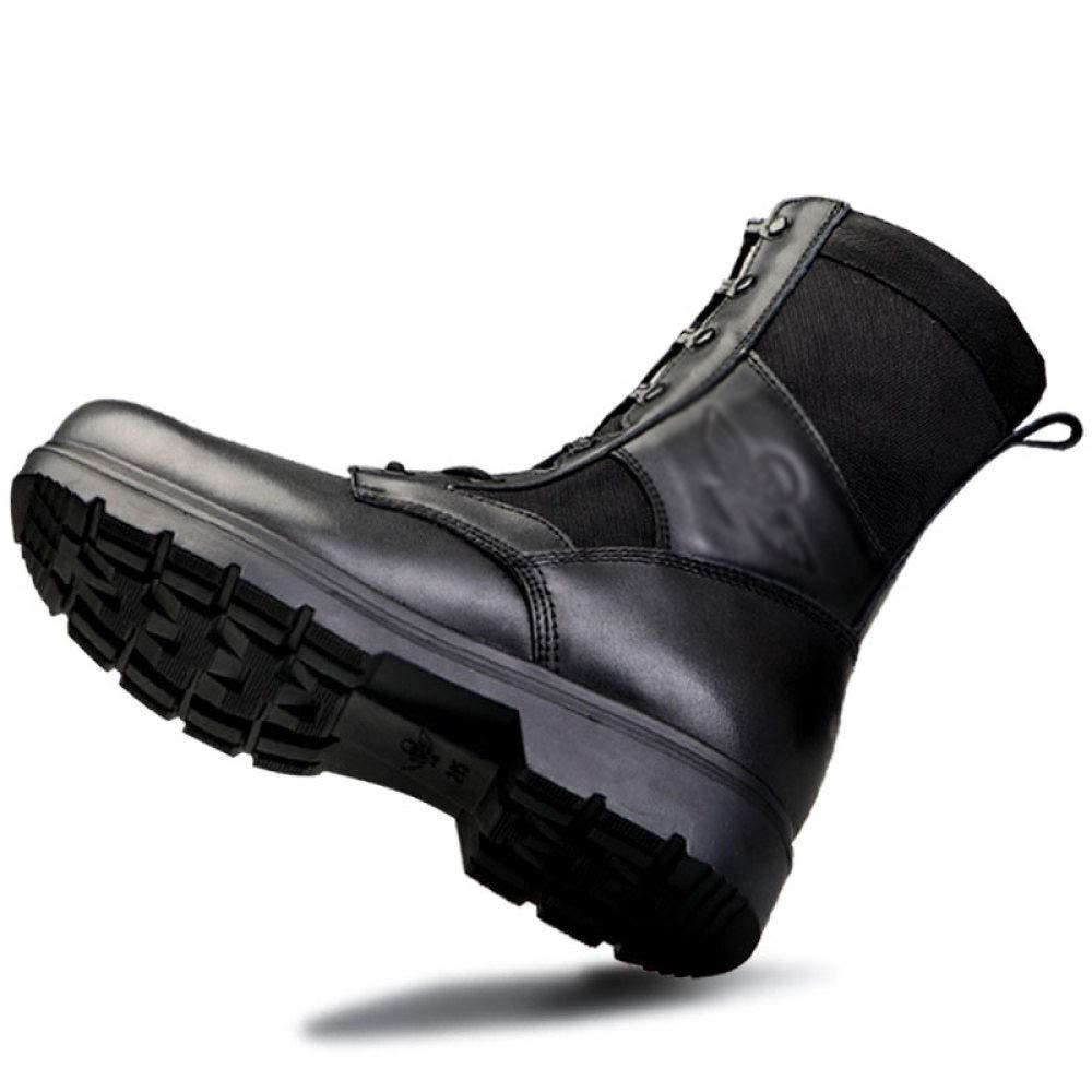 DNSZRY Herren Fallschirmjäger Stiefel Schuhe Spezialeinheiten Militärpolizei Armee Kampf Schuhe Stiefel Wüste Bewaffnete Taktik Lace-Up Bequeme Schuhe Outdoor Wandern schwarz 2d195a