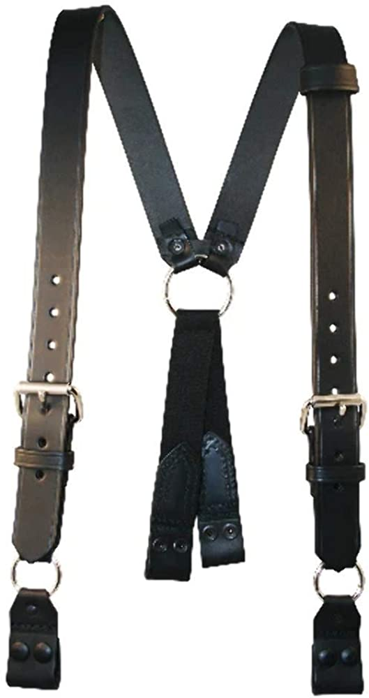 "Boston Leather Fireman's Suspenders With Loop Attachment - Size Regular (39-1/2"" - 45-1/2"")"