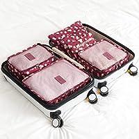 Naphele奈菲乐 旅行收纳袋六件套 行李箱整理袋 衣物收纳袋 收纳包