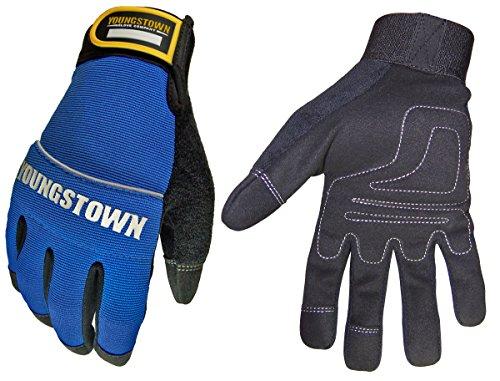 [Youngstown Glove 06-3020-60-XL Mechanics Plus Performance Glove XLarge, Blue] (Youngstown Mechanics Plus Gloves)