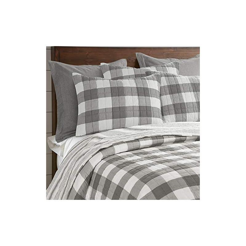 Levtex - Camden Bedspread Set - Queen Bedspread (110 x 118 in.) + Two Standard Pillow Shams (26 x20 in.) - Buffalo Check…