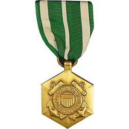 United States Military Armed Forces Full Size Medal - USCG Coast Guard & National Guard - Commendation